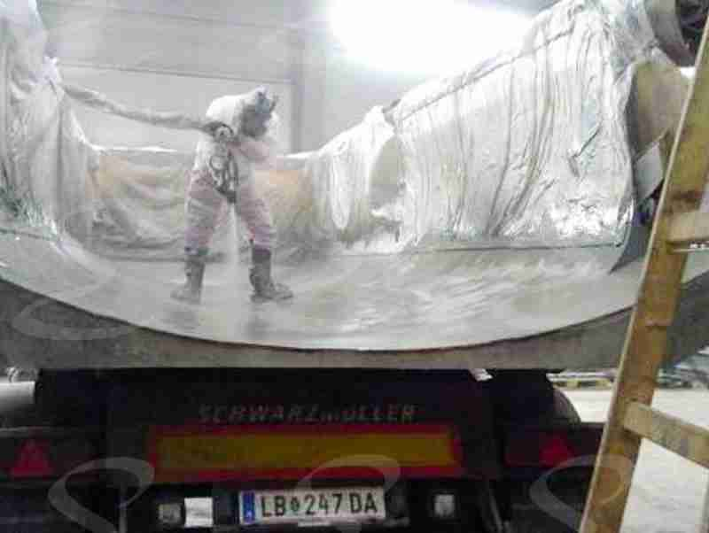 rivestimento poliurea cassone camion antiabrasione