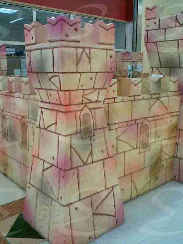scenografia castello rivestimento poliurea elastopol