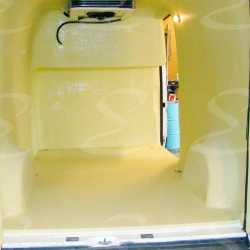 rivestimento poliurea protezione antiabrasione interno furgone