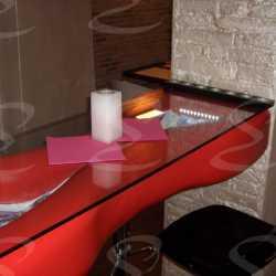 restaurant table styropor polyurea scenorock