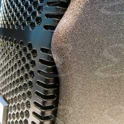 rivestimento poliurea per casse acustiche legno