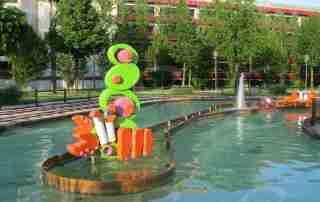 parco acquatico scenografia rivestimento poliurea polistirolo waterproof