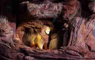 scenografie poliurea polistirolo re leone