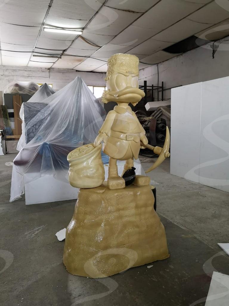 statua polistirolo rivestimento poliurea